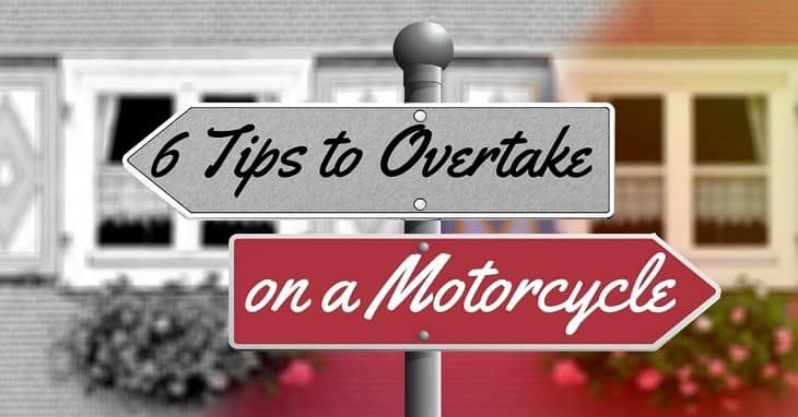6 Tips to Overtake on a motorcycle