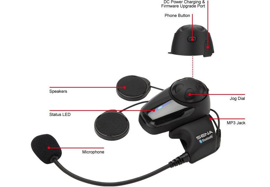 Is The Sena Smh 10d 11 The Motorcycle Bluetooth Headset