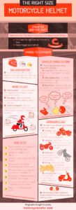 How to Choose The Right Size Motorcycle Helmet infographic