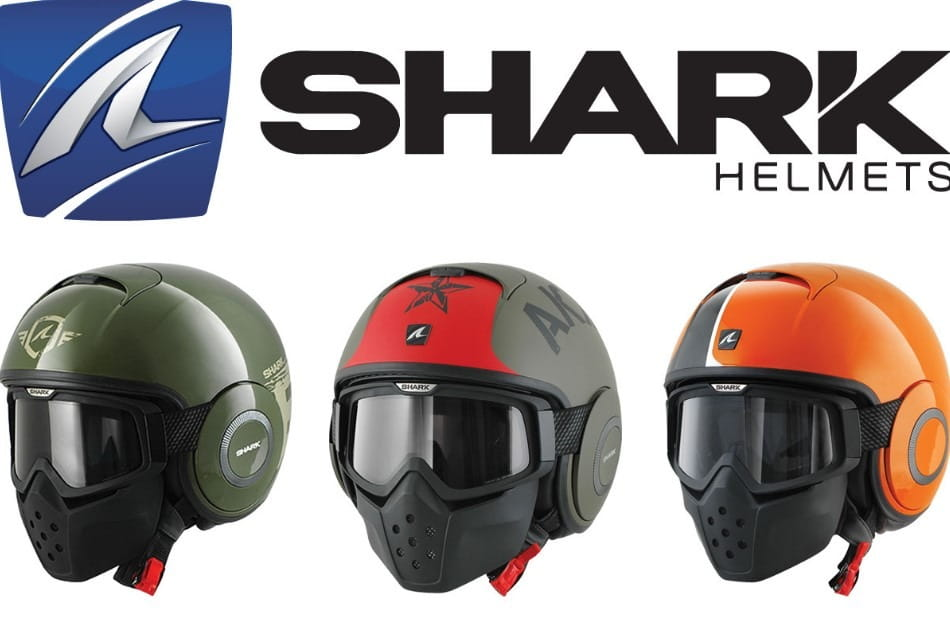 shark raw open face helmet