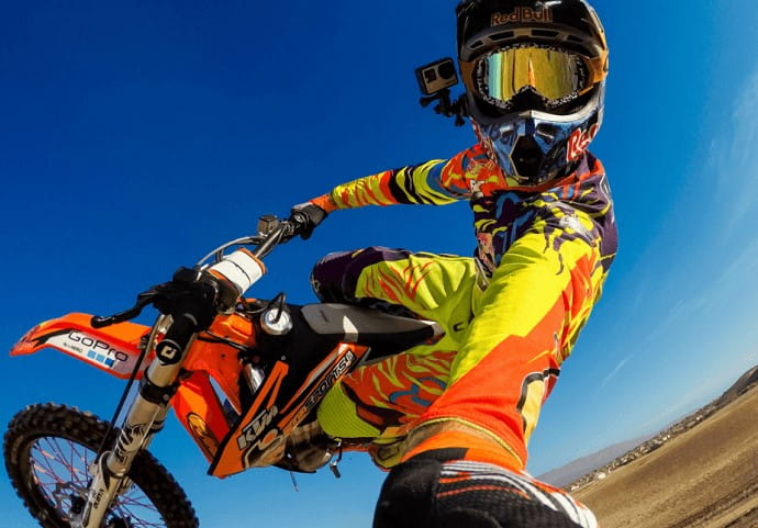 camera dirt bike helmets