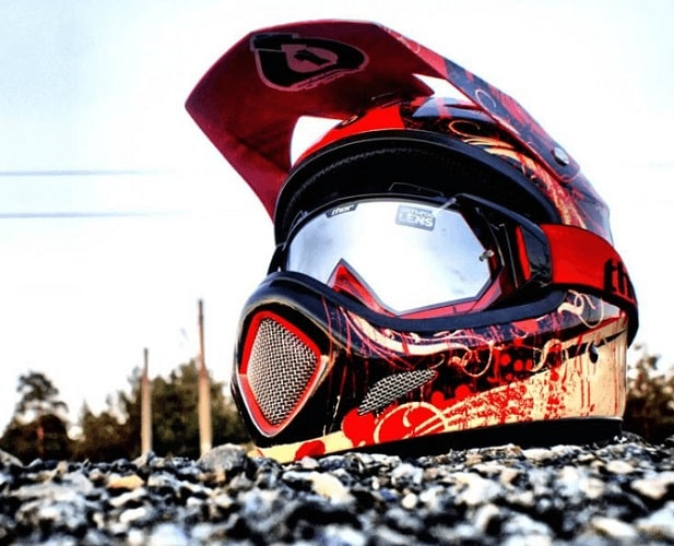cool dirt bike helmet
