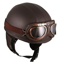 Black & Gold Helmet with Goggles